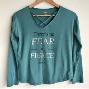 XOXO There's No Fear in Fierce Long Sleeve Tee E1